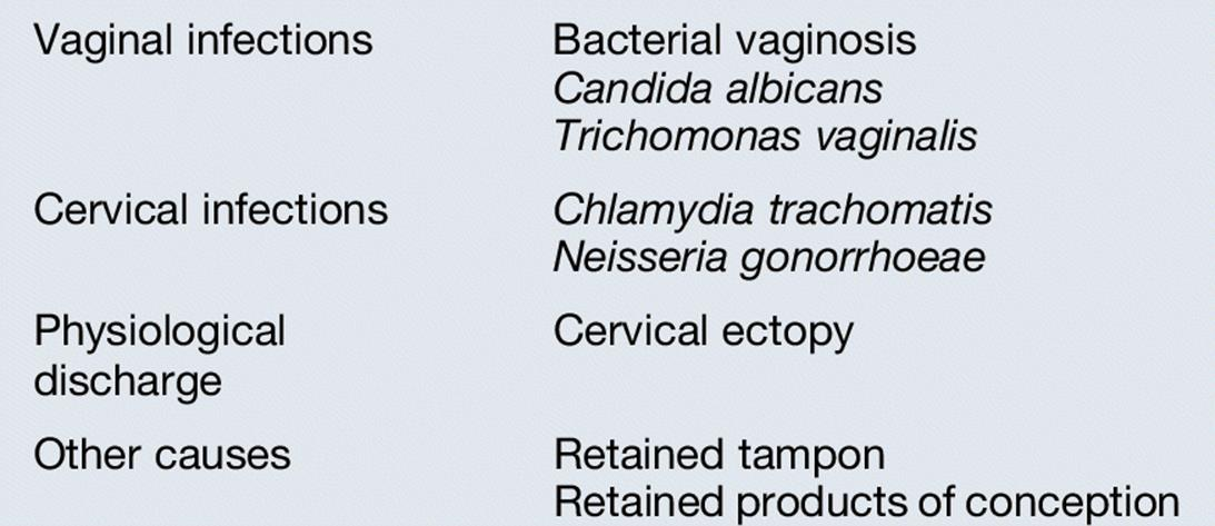 Causes of increase in vaginal discharge