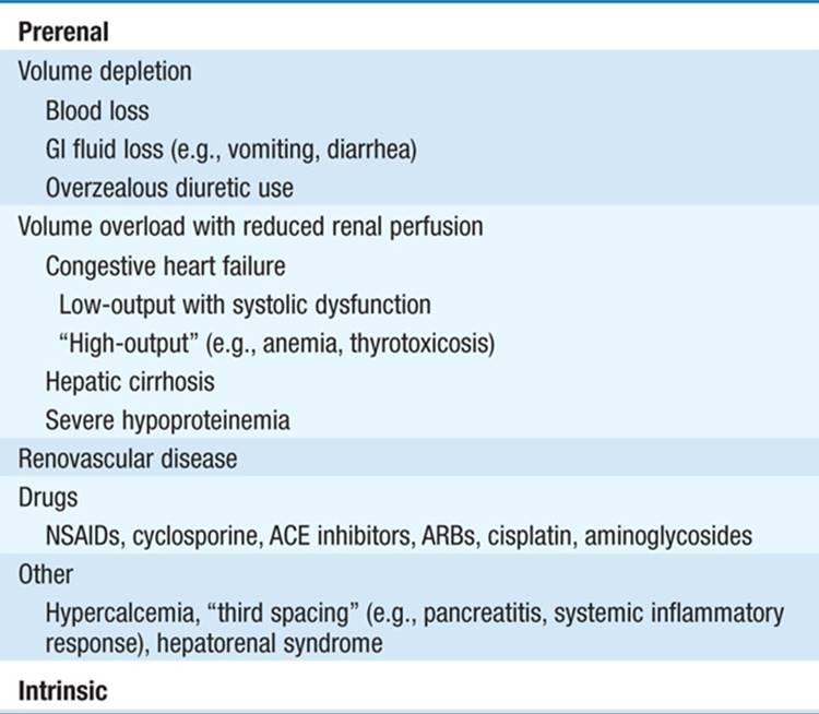 Acute Renal Failure Nephrology Harrisons Manual Of Medicine 18th Ed