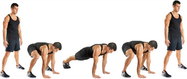The Burpees Men S Health Your Body Is Your Barbell No Gym Just